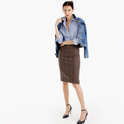 No. 2 pencil skirt in houndstooth