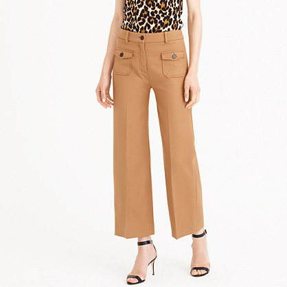 Wide-leg pant with patch pockets