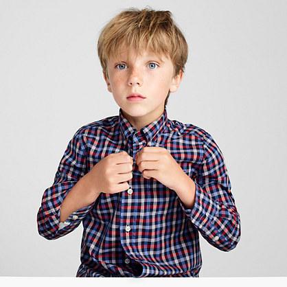 Kids' Secret Wash shirt in multicheck
