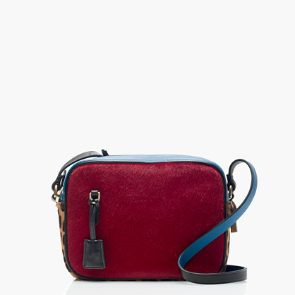 Signet bag in colorblock Italian calf hair