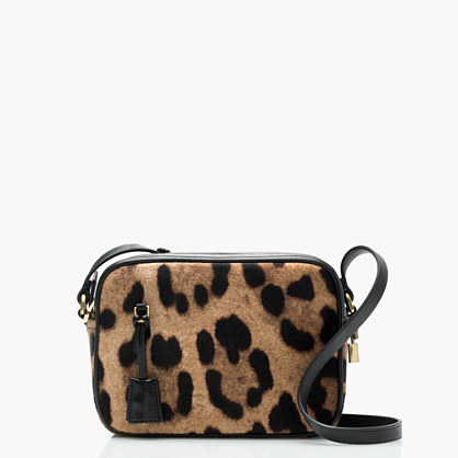 Signet bag in Italian leopard-printed calf hair