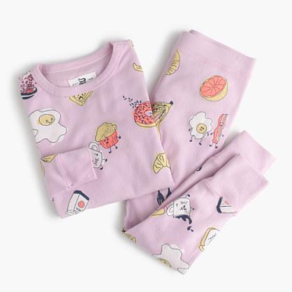 Girls' pajama set in balanced-ish breakfast