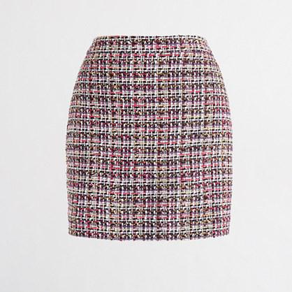 Tinsel plaid mini skirt