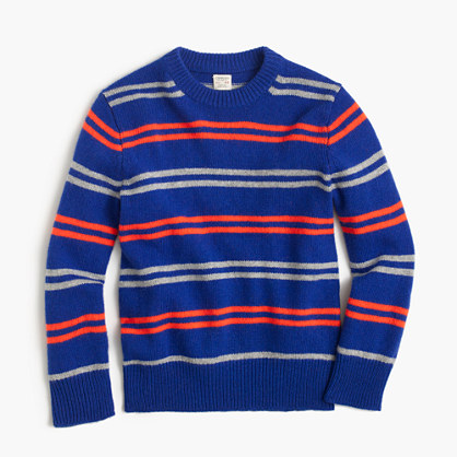 Boys' softspun crewneck sweater in stripe