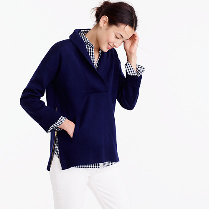Collection bonded shawl popover sweater