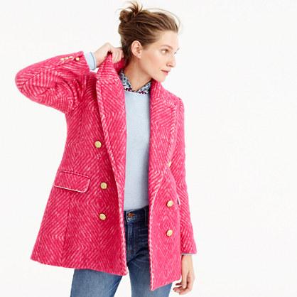 Diamond tweed coat
