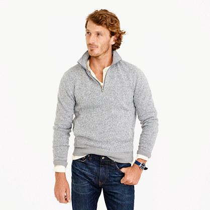 Summit fleece half-zip sweatshirt in grey