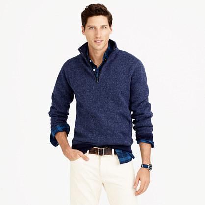Summit fleece half-zip sweatshirt in ultramarine