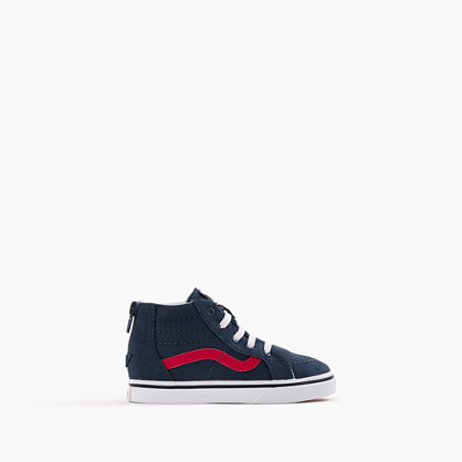 Kids' Vans® lace-up high-top sneakers in smaller sizes