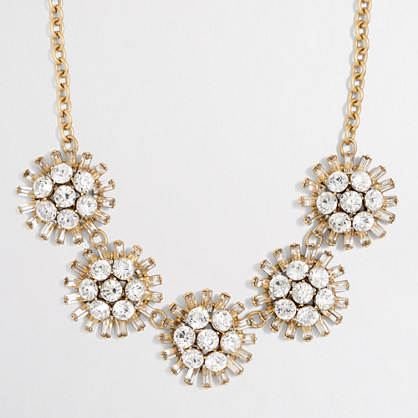 Factory crystal dotted sphere necklace