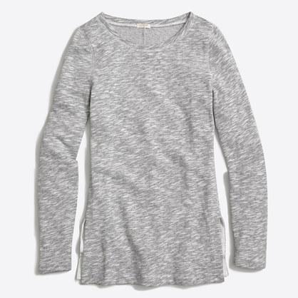 Side-slit sweatshirt