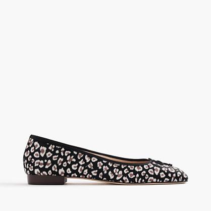 Kiki leopard calf hair ballet flats