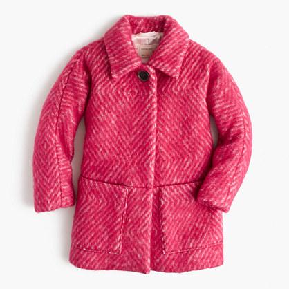 Girls' diamond tweed coat