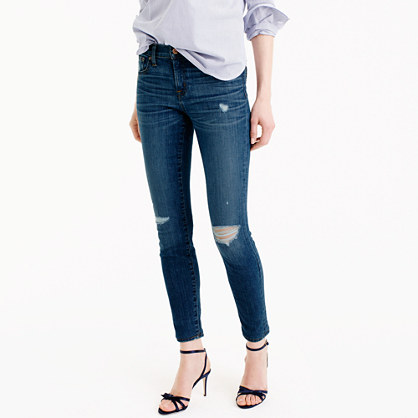 Distressed toothpick jean in Pamona wash