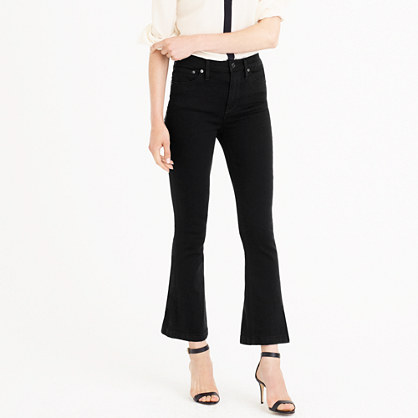 Petite Billie demi-boot crop jean in black