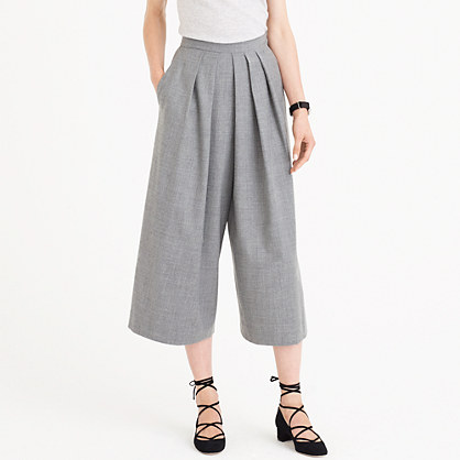 Drapey culotte in wool flannel