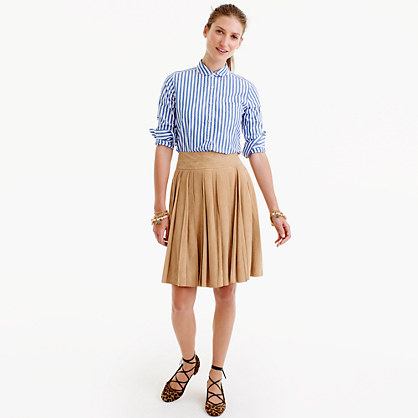 Collection suede mini skirt