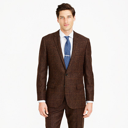Ludlow suit jacket in herringbone English wool