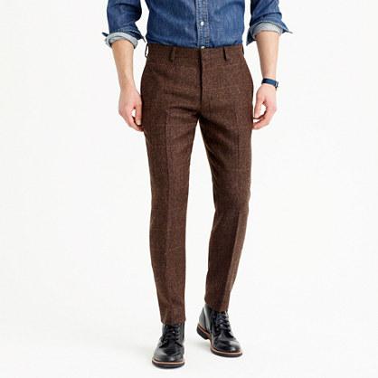 Ludlow suit pant in herringbone windowpane English wool