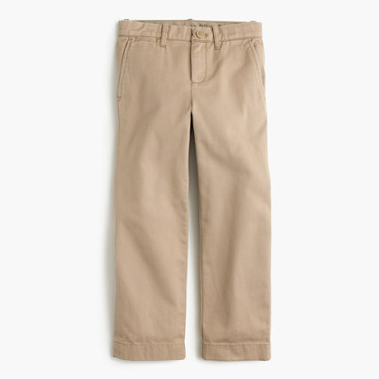 Boys' broken-in chino in straight fit