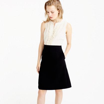 Two-piece dress in silk baby dot