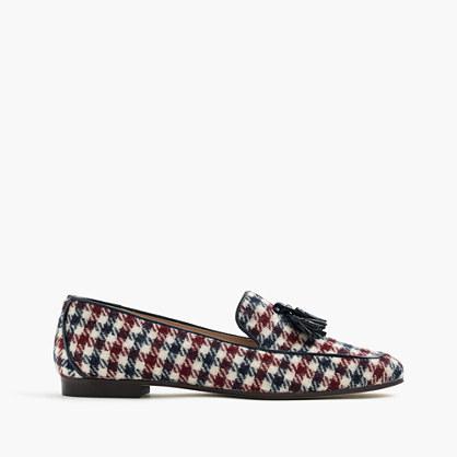 Charlie tassel loafers in tweed
