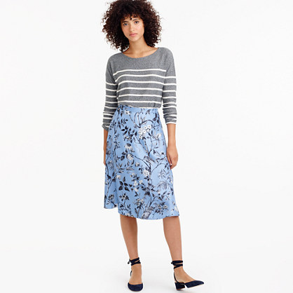 Collection flowy A-line skirt in Ratti® monkey print