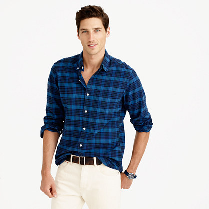 Slim oxford shirt in nightfall plaid