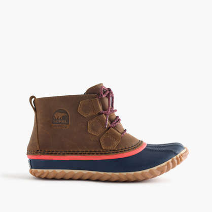 Women's Sorel® for J.Crew Out N About™ leather boots in elk melon