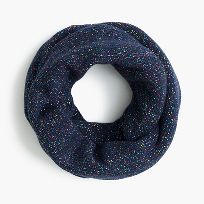 Girls' speckled cotton infinity scarf