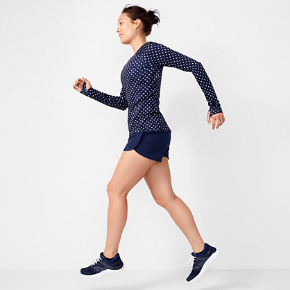 New Balance® for J.Crew in-transit long-sleeve T-shirt in polka dot