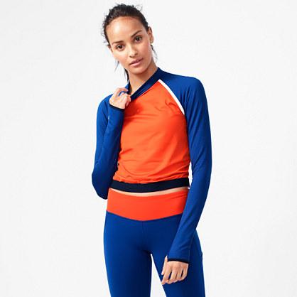 New Balance® for J.Crew long-sleeve colorblock crop top