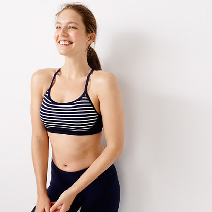 New Balance® for J.Crew striped sports bra