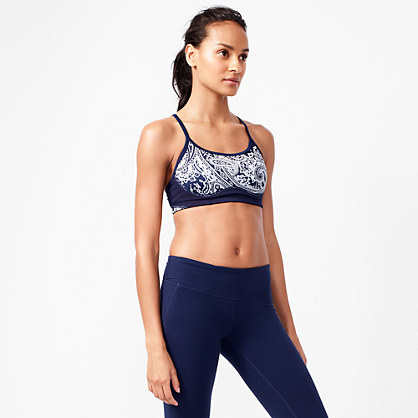 New Balance for J.Crew sports bra in paisley