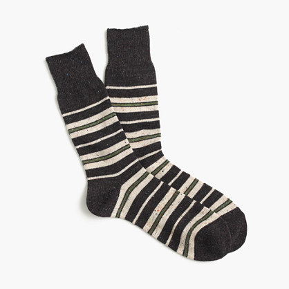 "Anonymous Ismâ""¢ blanket stripe socks"