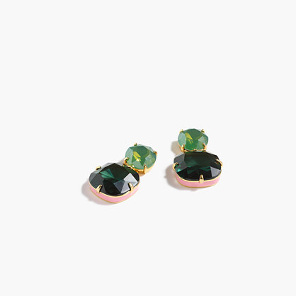 Enamel edge earrings