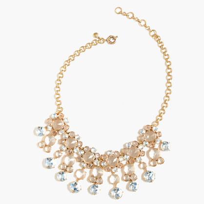Icy crystal drop necklace