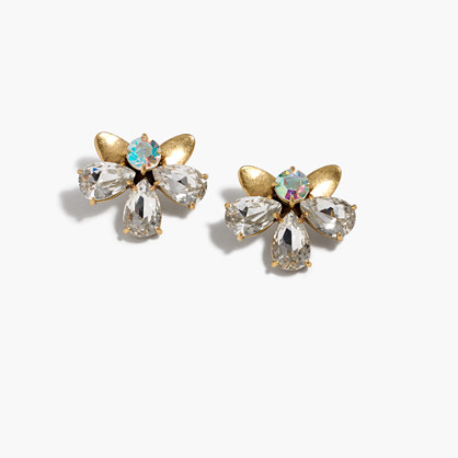 Crystal blossom earrings