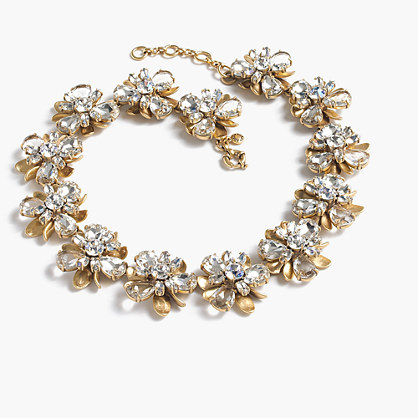 Crystal blossom necklace