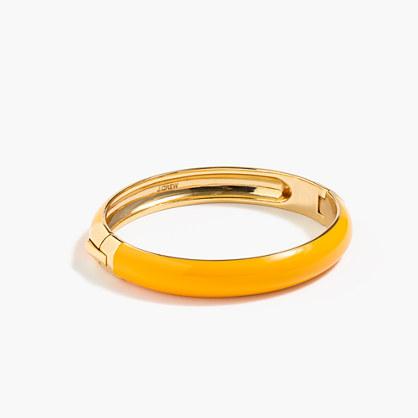 Round enamel clamp bracelet