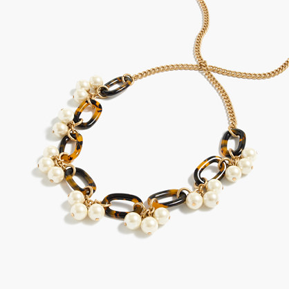 Tortoise and pearl necklace