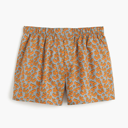 Pumpkin print boxers