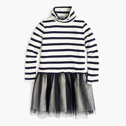 Girls' turtleneck tulle dress