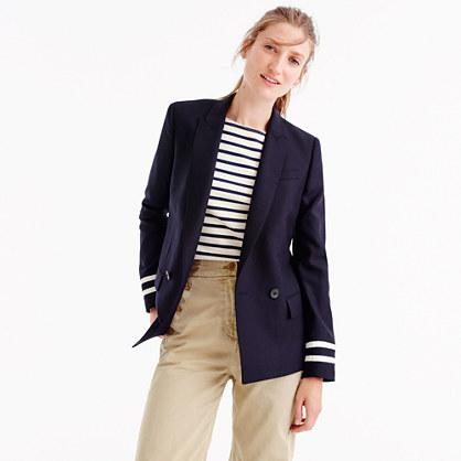 J.Crew for NET-A-PORTER® Rhodes blazer in navy stripes