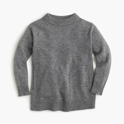Girls' Italian cashmere tunic