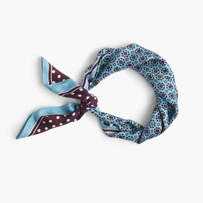 Italian silk square scarf in foulard