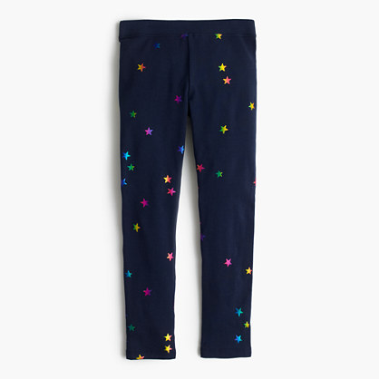 Girls' everyday leggings in multicolor constellation print