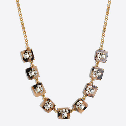 Tortoise crystal necklace