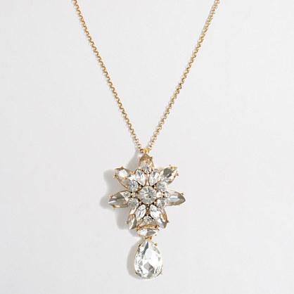 Crystal drop pendant necklace