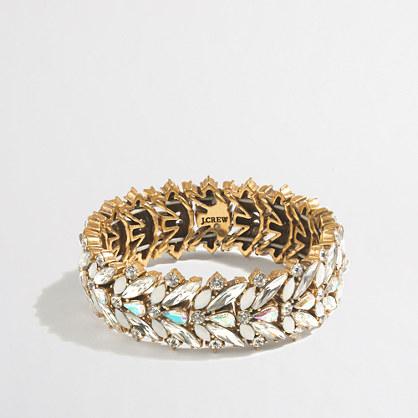 Iridescent crystal stretch bracelet